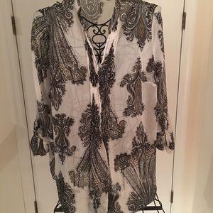 EUC Cato 3/4 sleeve blouse